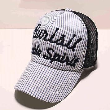 SLH Sombrero Gorra de béisbol de Verano Ocio Rayas Sombrero de Sol de Moda para  Hombres 3e7a0ea41c4