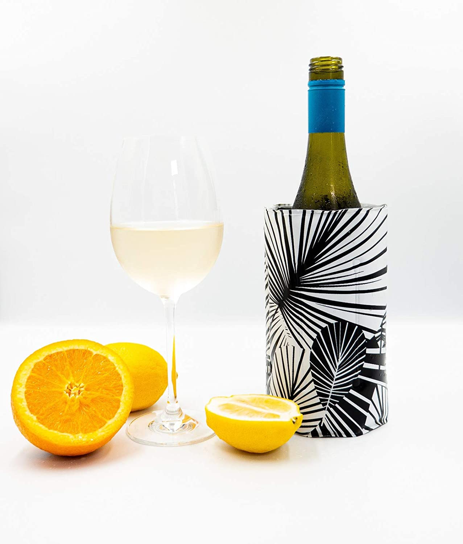 The HHC Wine Chiller Sleeve I Wine Bottle Cooler Champagne Chiller I Adjustable Size Bottle Wrap for Easy and Rapid Chilled Wine I Wine Cooler Sleeve I Wine Bottle Chiller Cooler for Champagne Lovers