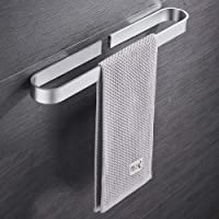 Handdoekhouder zonder boren, zelfklevende handdoekhouder voor badkamer en keuken, aluminium handdoekstang met…