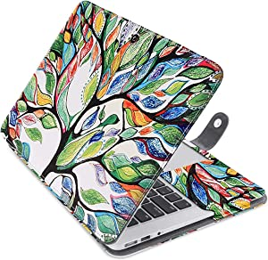 MOSISO MacBook Air 13 inch Case, Pattern PU Leather Book Folio Protective Stand Cover Sleeve Compatible with MacBook Air 13 inch A1466 / A1369 (Older Version Release 2010-2017), Love Tree