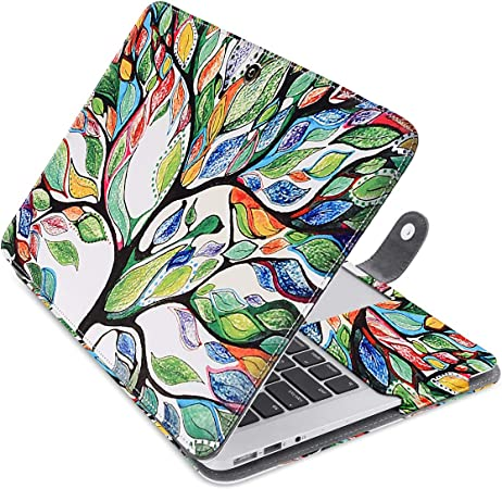 Mosiso Funda Para Laptop Estilo Libro De Cuero Sintético Para Macbook Air De 13 Pulgadas Love Tree Computers Accessories