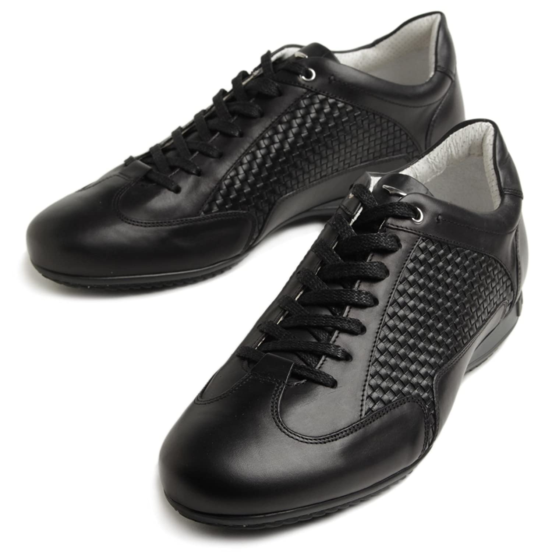 ALBERTO GUARDIANI アルベルトガルディアーニ イントレチャート レザー スニーカー 靴 SU76342I B07BGT7KFN