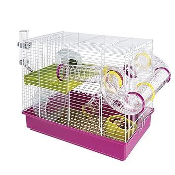 Ferplast Hamster Cage, White, 11.61 x 14.76