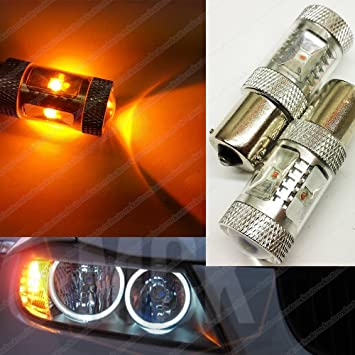 MCK Auto 2700010002 Cree Led Canbus Señal Bombillas para Intermitentes Delanteros y Traseros, Naranja: Amazon.es: Coche y moto