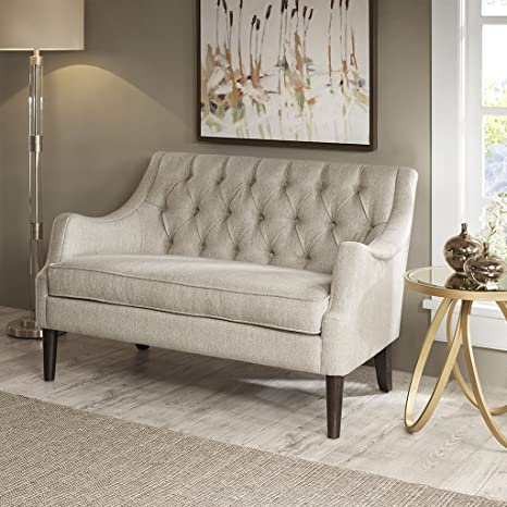 Cool Madison Park Mp106 0662 Qwen Modern Classic Accent Chair Solid Wood Plywood Button Tufted Loveseat Settee Family Room Sofa Furniture 49 5 Wide Caraccident5 Cool Chair Designs And Ideas Caraccident5Info