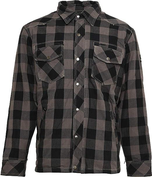 Bores Lumberjack Chaquetas de camisa resistente a rasguños, impermeable, gris de cuadros, color negro, tamaño M: Amazon.es: Coche y moto