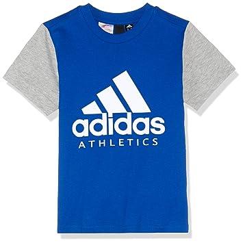 adidas T-Shirt à Manches Courtes pour garçon M Collegiate Royal Grey Heather dd30397930c