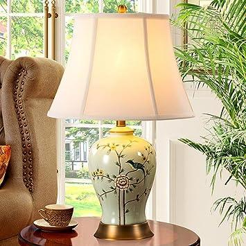 Die Tischleuchte Chinesische Kupfer Keramik Tischlampe Schlafzimmer