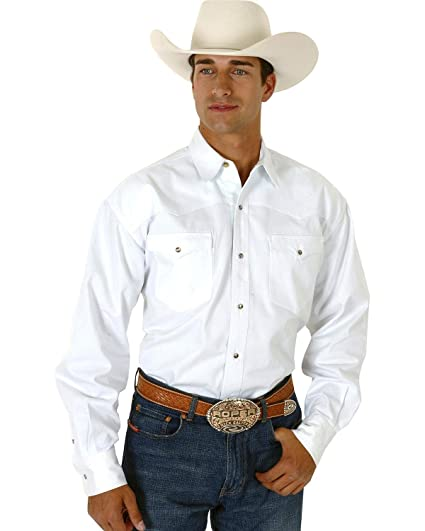 28d6ae95ee271 Roper Men s White Twill Western Shirt White Small at Amazon Men s ...