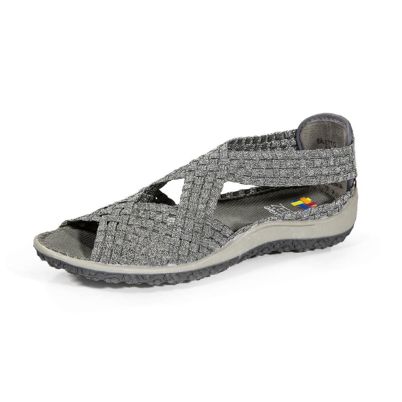 Zee Alexis Saletto Comfort Sandals B01MTC5H9G 8.5 B(M) US|Pewter