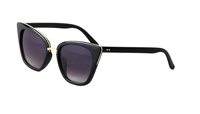 a889cca6f0b9 DM Merchandising Inc. Optimum Optical Women's Cat Eye Sunglasses, Pussycat  (Black)