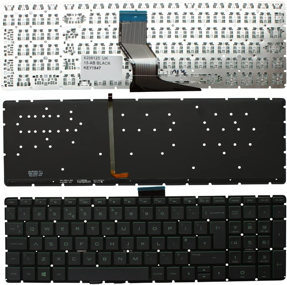 Keyboards4Laptops UK Layout Backlit Black Windows 8 Laptop Keyboard for HP Pavilion 15-ab155nw, HP Pavilion 15-ab155sa, HP Pavilion 15-AB157CL, HP Pavilion 15-AB157NR, HP Pavilion 15-ab158nb