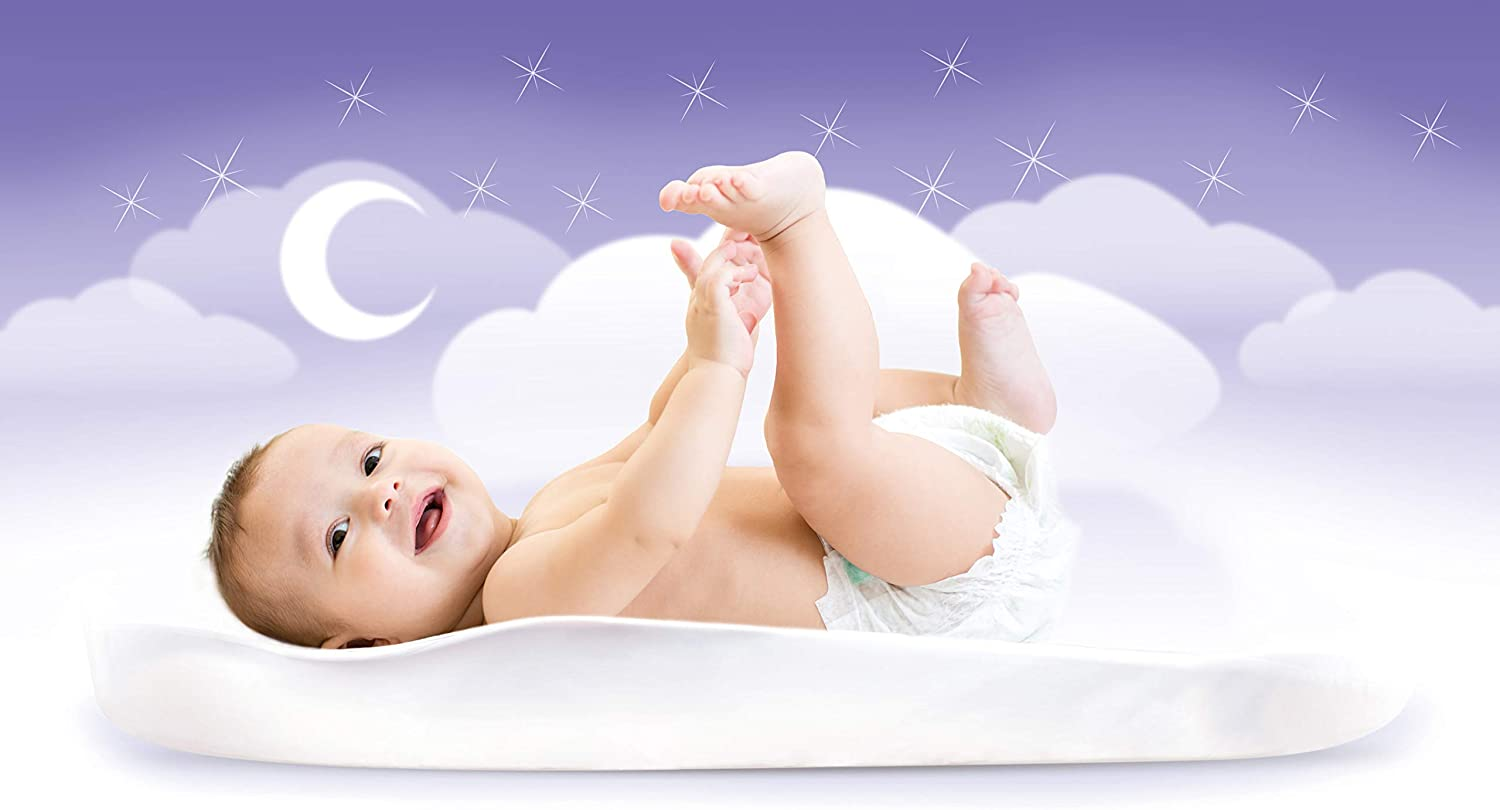 SleepCurve/® Moses Basket Mattress for Baby Plagiocephaly Flat Head Syndrome Treatment and Prevention