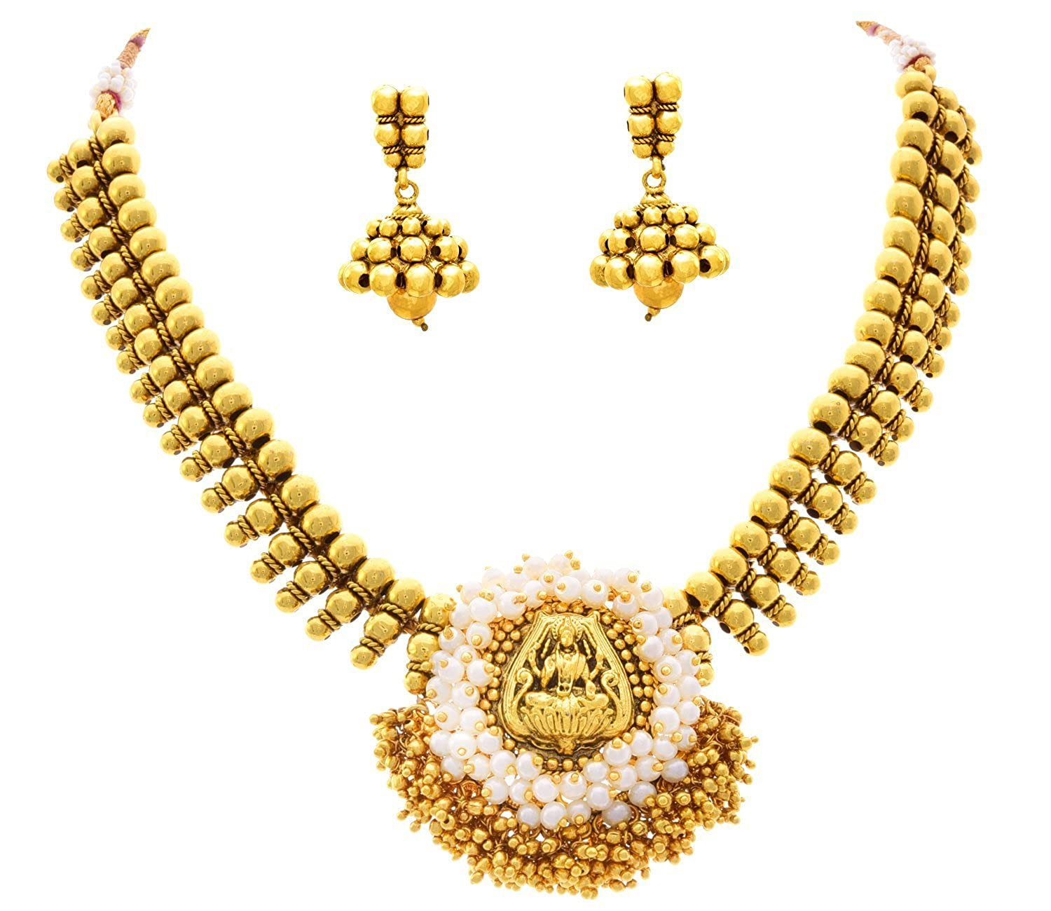 98c118ed06 Buy JFL - Magnificent Mahalaxmi Coin One Gram Gold Plated Designer Necklace/ Jewellery Set for Women & Girls. Online at Low Prices in India | Amazon ...