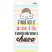 Capa Personalizada para iPhone 6 Plus / 6S Plus - Para Ver o Arco-íris, Husky, Proteção Completa (Carcaça+Tela), Multicor