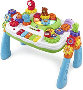 VTech GearZooz 2-in-1 Jungle Friends Gear Park (Frustration Free Packaging), Great Gift For Kids, Toddlers, Toy for Boys and Girls, Ages 2, 3, 4