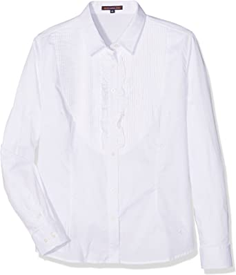 Spagnolo Blusa Gabardina Elast. 2248 Camisa, Blanco, M para Mujer: Amazon.es: Ropa y accesorios