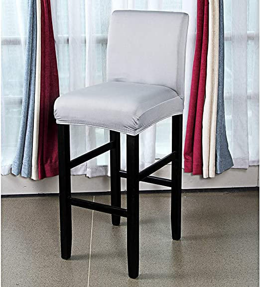 Dining Room Short Chair Cover Slipcover Velvet Stretch Counter Stool Covers
