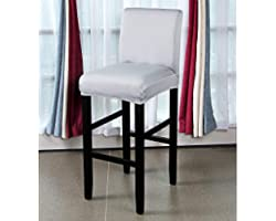BTSKY 2 Pack Stretch Chair Cover Slipcovers, Counter Height Bar Stool Covers Dining Room Kitchen Barstool Cafe Furniture High