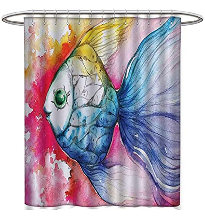 Image Unavailable Not Available For Color Fish Shower Curtains Fabric