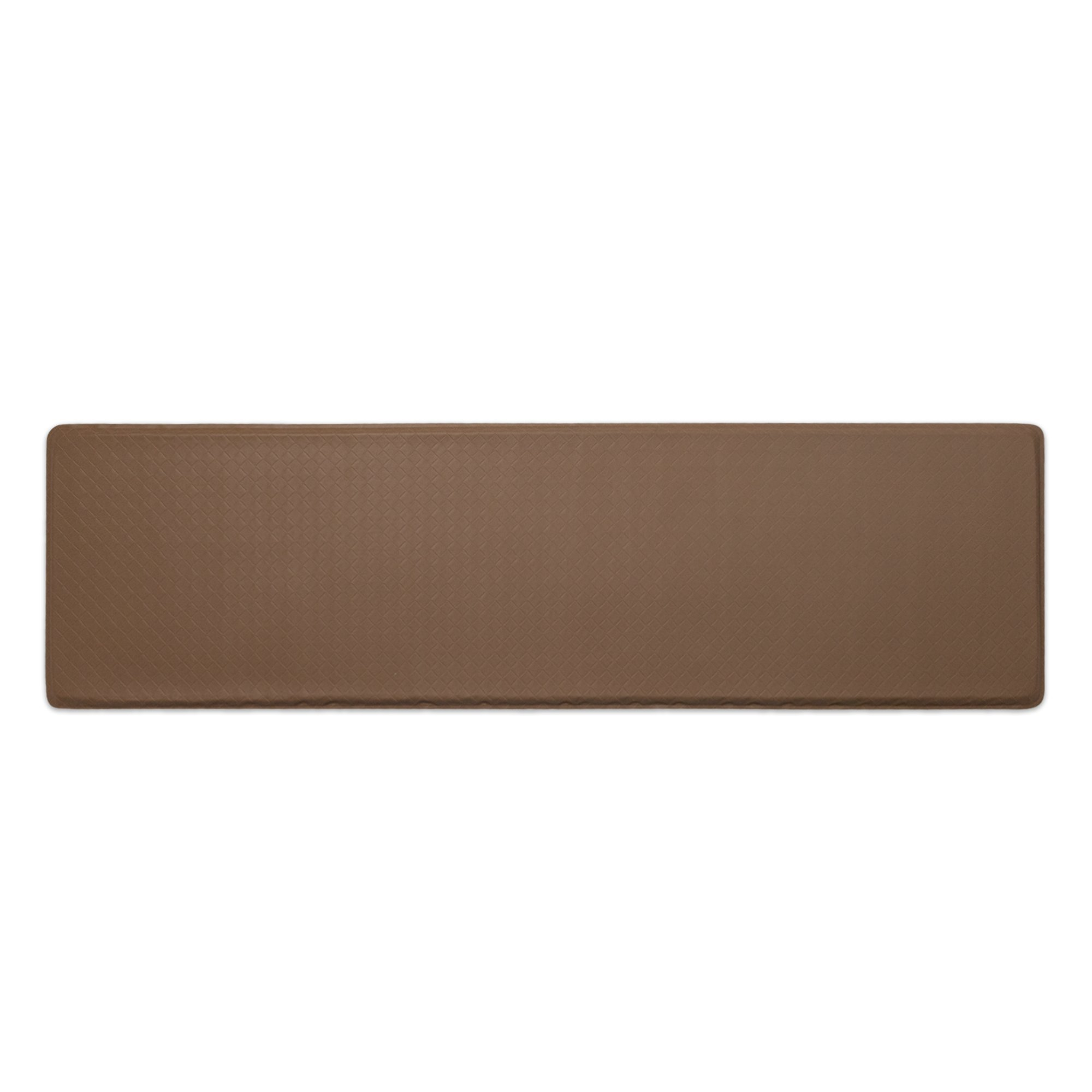 """GelPro Classic Anti-Fatigue Kitchen Comfort Chef Floor Mat, 20x72"""", Basketweave Khaki Stain Resistant Surface with ½"""" gel core for health & wellness"""