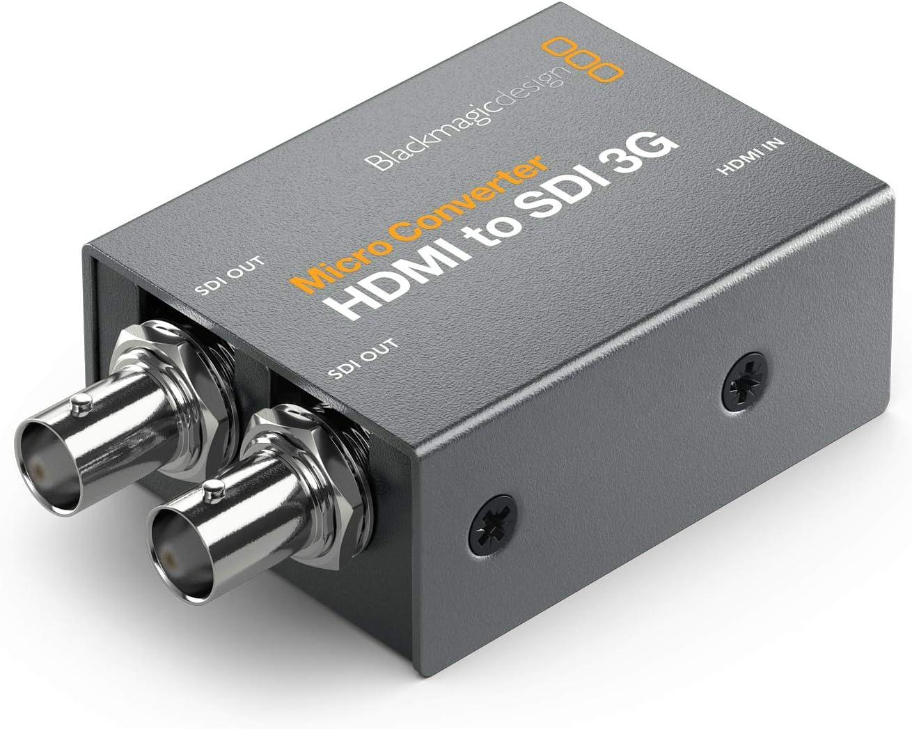 CONVCMIC//HS03G//WPSU avec Alimentation Blackmagic Convertisseur Micro Converter HDMI to SDI 3G wPSU