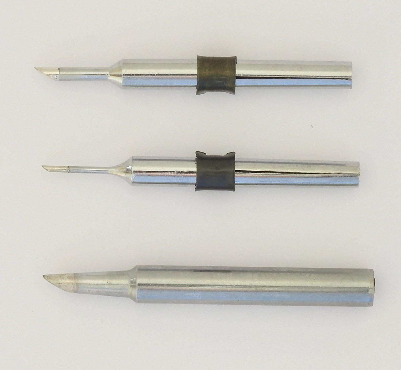Assortiment d'un lot de 3 pannes de rechange pour le Antex M12,C15,TC25 Fer à souder (1.0, 2.3, 3.0mm) MMB00J0 TC25 Fer à souder (1.0