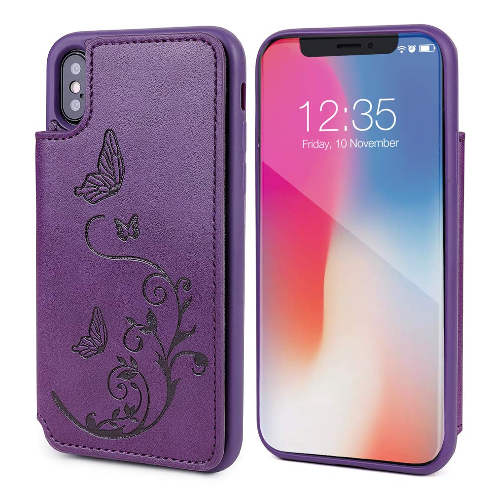Amazon.com: WaterFox - Funda de piel para iPhone X, diseño ...
