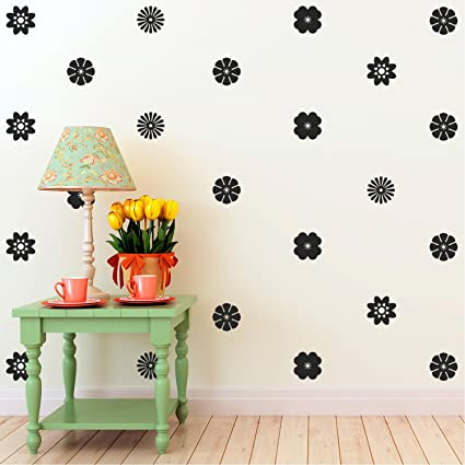 Astounding Amazon Com 24 Pack Of Beautiful Flowers Vinyl Wall Art Home Interior And Landscaping Mentranervesignezvosmurscom
