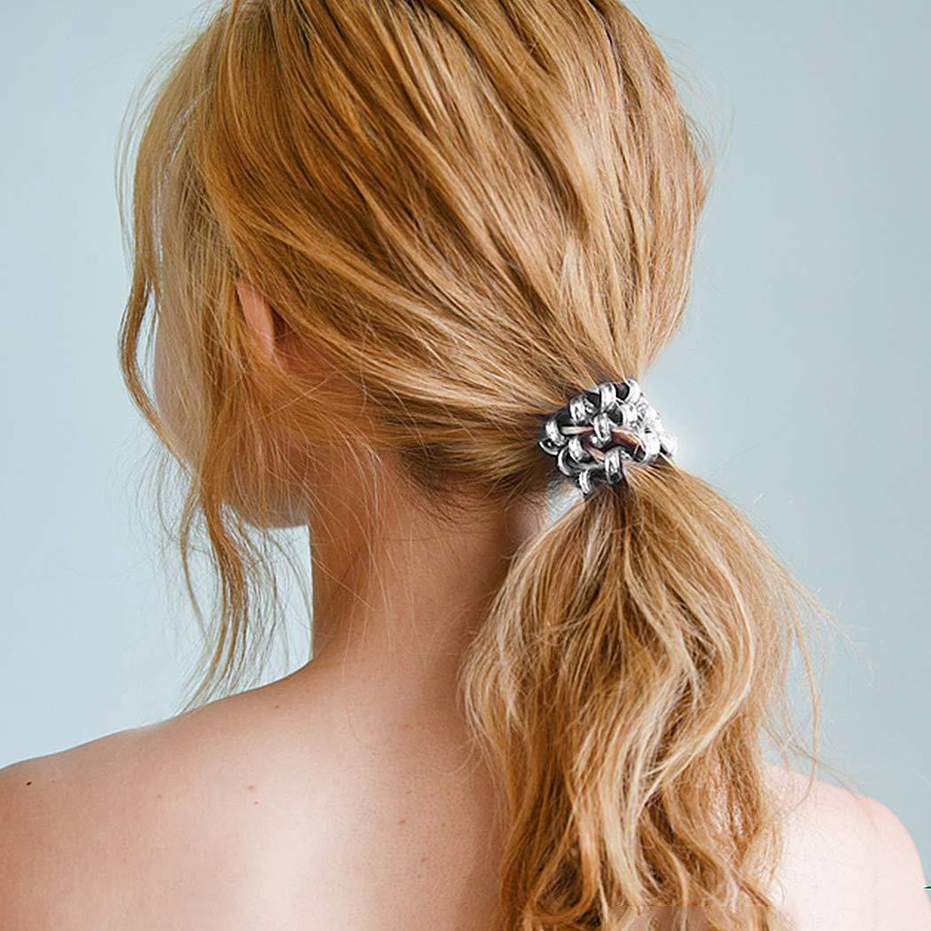 40PCS Spiral Hair Ties, Coil Hair Ties, Phone Cord Hair Ties, Hair Coils Ponytail Holder Hair Accessories for Women Girl