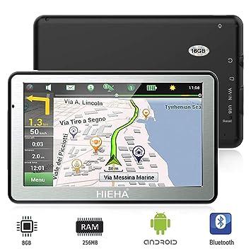 """GPS para Coches, HIEHA 7"""" Navegador GPS Bluetooth Android Pantalla Táctil de Alta definición"""