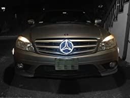Smk wholesale car front grille led logo for for Mercedes benz led star
