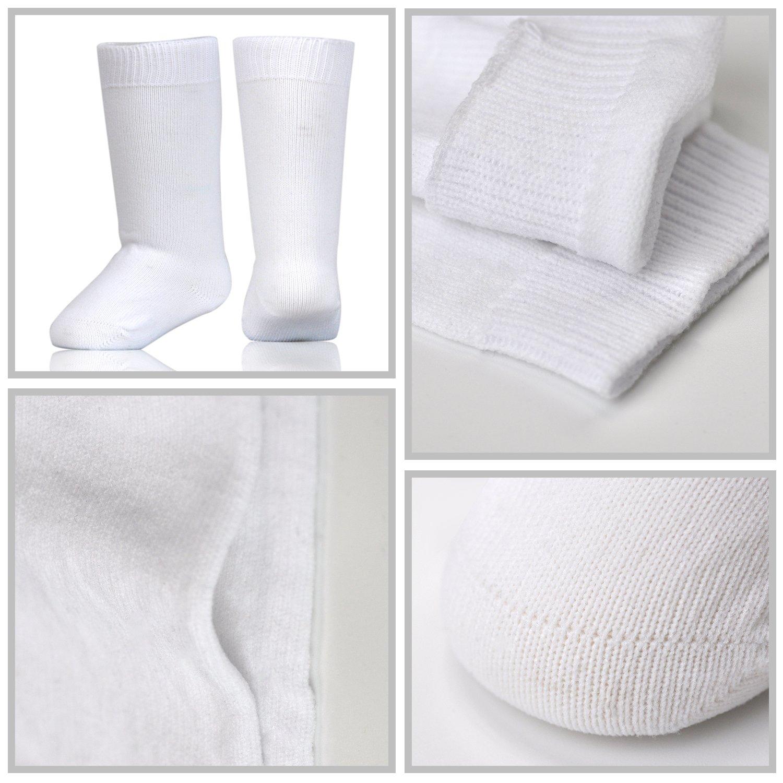 Epeius Unisex-Baby Seamless Soft Nylon Knee High Socks,Newborn//Infant//Toddler
