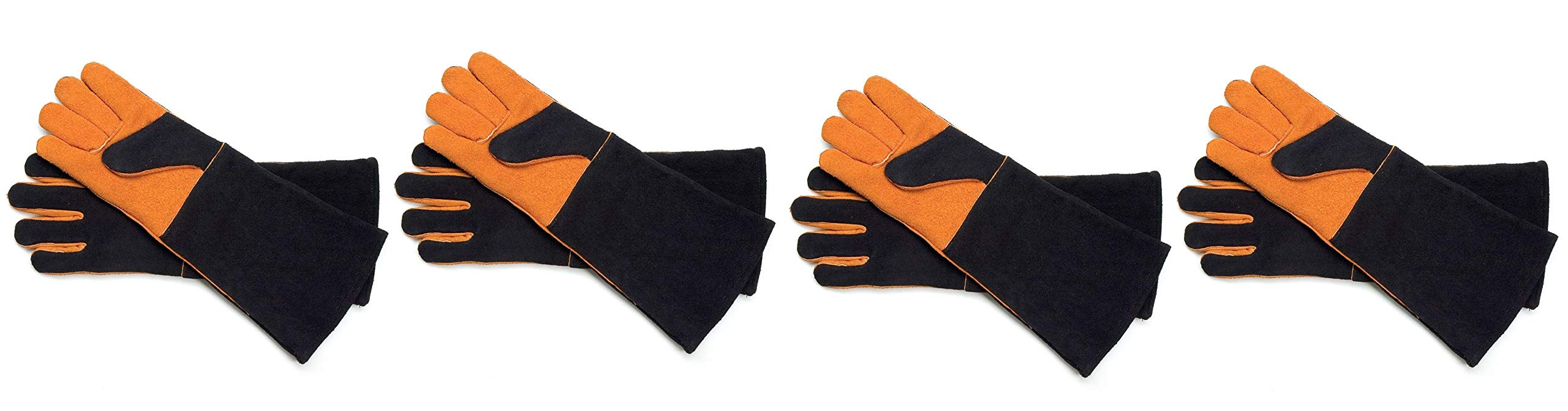 Steven Raichlen Best of Barbecue Extra Long Suede Grill Gloves (Pair) - SR8038 (Fоur Paсk)