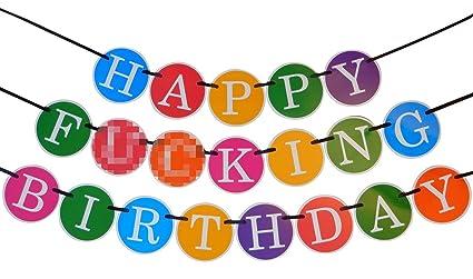 Funny Happy Birthday Banner