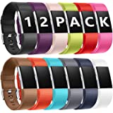 Zekapu For Fitbit Charge 2 Strap, Adjustable Sport Replacement Wristband with Classic Stainless Buckle Compatible for Fitbit Charge 2, Large Small