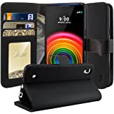 LG X Power Case, TAURI [Stand Feature] Wallet Leather Case with Stand, ID & Credit Card Pockets Flip Cover Protective Case For LG X Power - Black