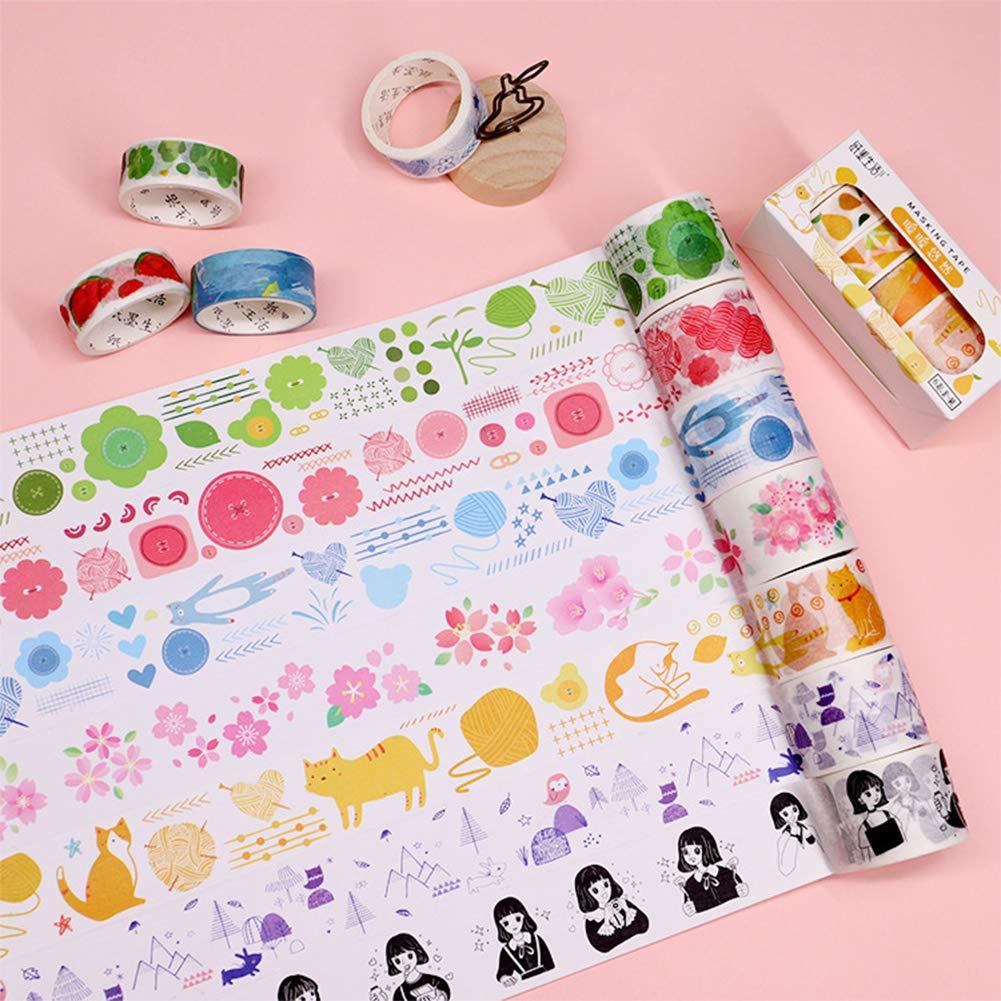 8 temi per decorazioni fai da te scrapbooking regali Set di 48 rotoli di nastro adesivo Washi Tape