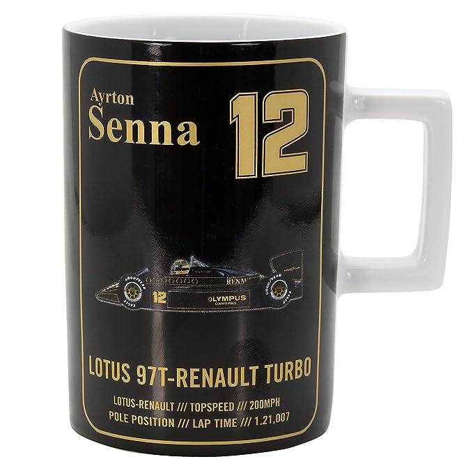 Equipo de Reunión de Ayrton Senna Lotus 97t F1 Taza térmica para el Coche: Amazon.es: Hogar