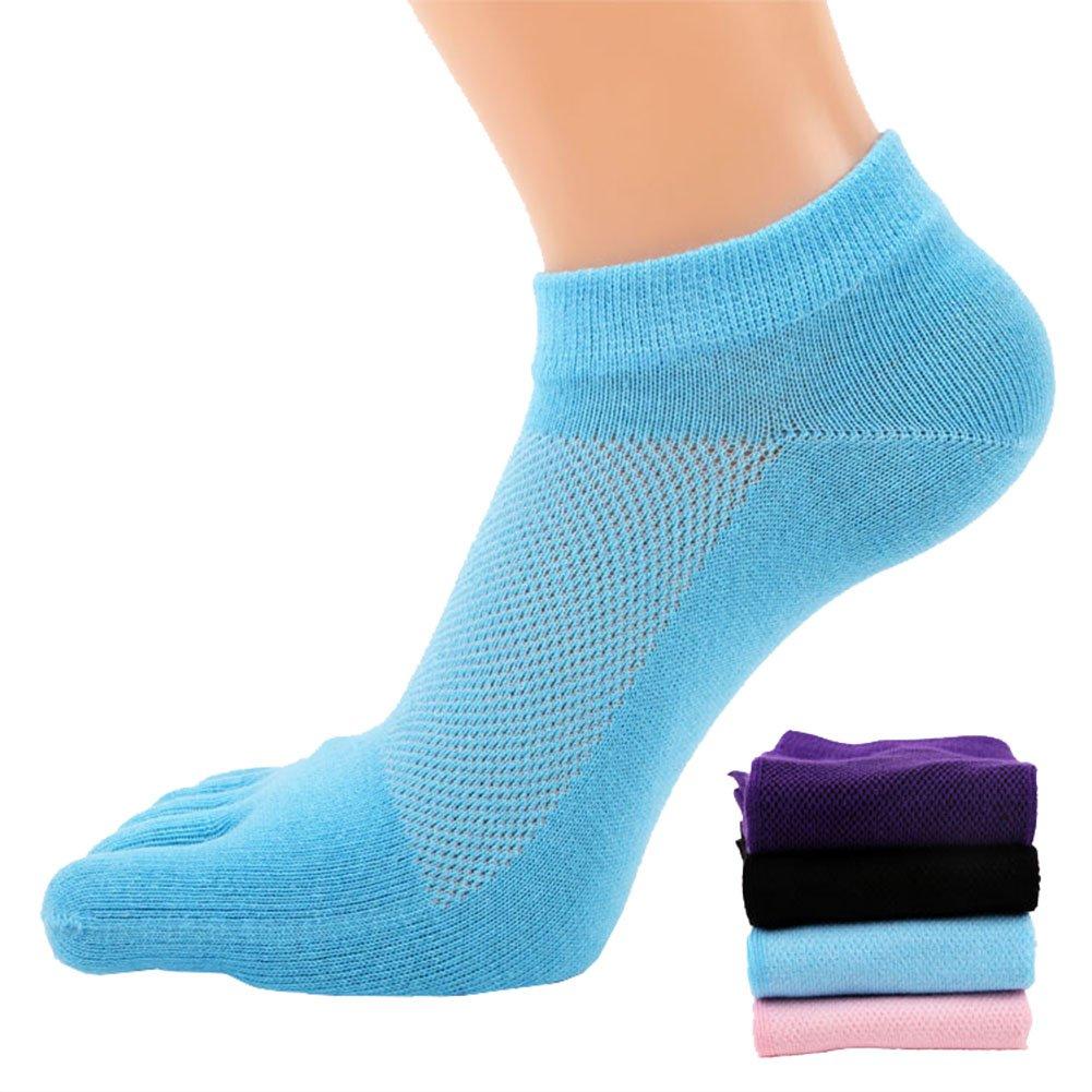 FULLANT 4 Pair Women Mesh Meias Casual Sports Running Five Finger Toe Socks