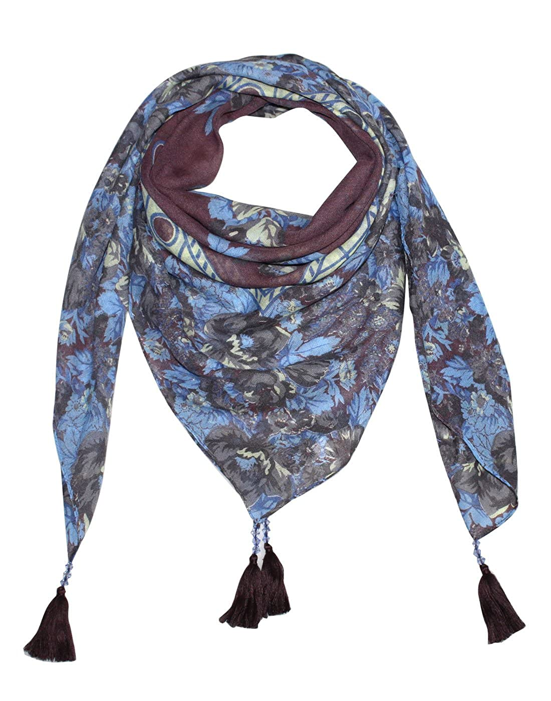d3c2e6703468c Uso Uno stylish printed grey square scarf , stole, dupatta in fine  polyester fabric for women.: Amazon.in: Clothing & Accessories