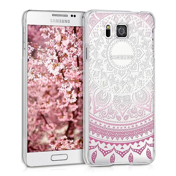 9c4f6373e24 kwmobile Funda para Samsung Galaxy Alpha - Carcasa de [plástico] para móvil  - Protector [Trasero] en [Rosa Fucsia/Blanco/Transparente]: Amazon.com.mx:  ...