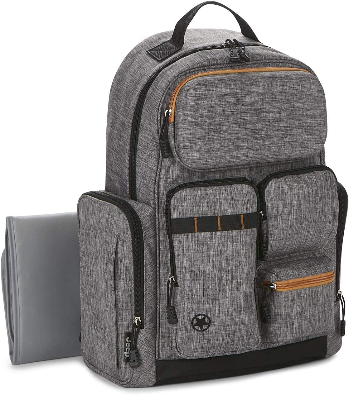 Jeep Adventurers Backpack Diaper Bag Grey//orange