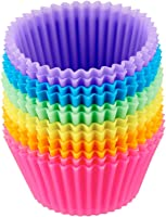AmazonBasics Reusable Silicone Baking Cups, Pack of 12