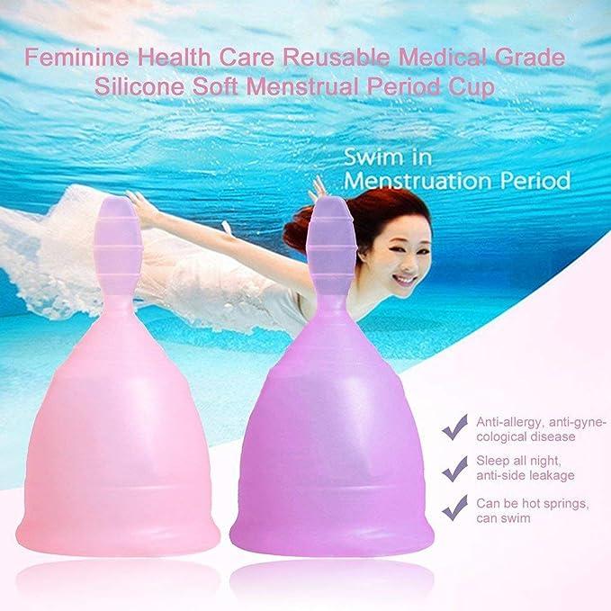 Lady Válvula de descarga copa menstrual reutilizable de ...