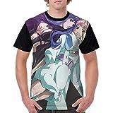 Macross Frontier Anime Cartoon Print Popular Shirt Short Sleeve Shirt for Men