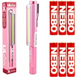 Bundle: Nebo LiL Larry Lucy Pocket Clip Magnetic LED Work Light with 6 Nebo AAA Batteries (Pink (Lucy))
