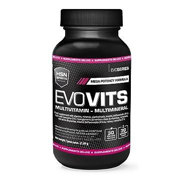 HSN Sports - Evovits Vitaminas, Minerales - Complejo Multivitamínico para Mujer, Hombre, Veganos y Deportistas - 30 Capsulas: Amazon.es: Salud y cuidado ...