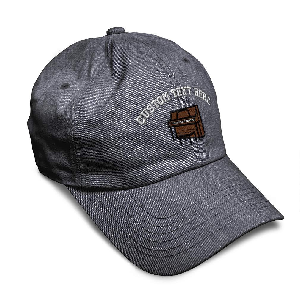 Custom Soft Baseball Cap Upright Piano Embroidery Dad Hats for Men /& Women