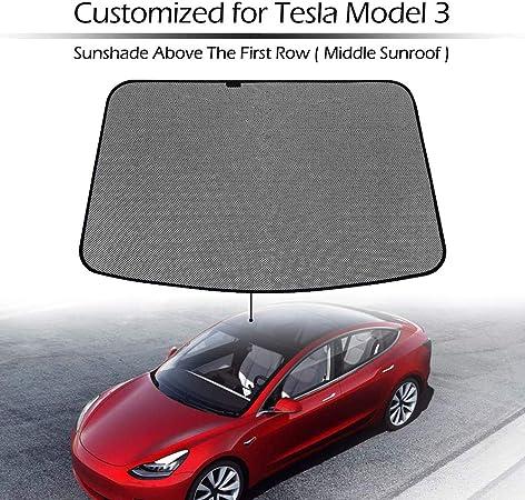 UV sole e caldo Riflettore for Tesla Model 3 Berlina 2018 tettuccio apribile Parasole pieghevole Custom-Fit Auto riflettente del parabrezza Tesla Model 3 del parasole del parabrezza 2019 Mirage